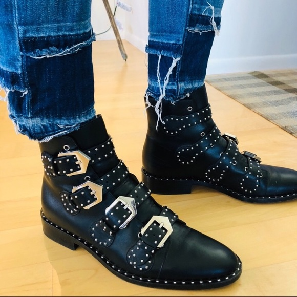 Givenchy Elegant Studded Leather Boots